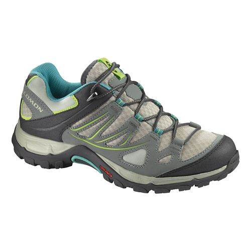 Womens Salomon Ellipse Aero Hiking Shoe - Chalk Grey/Blue 6