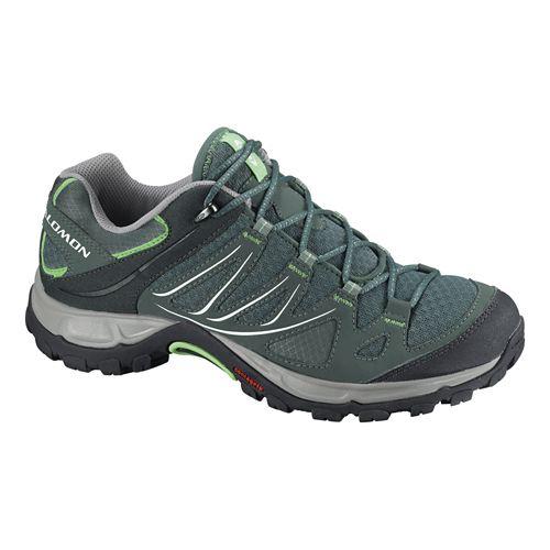 Womens Salomon Ellipse Aero Hiking Shoe - Light TT/Lizard Green 5