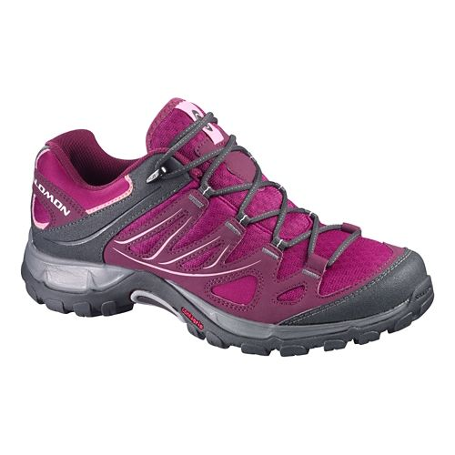Womens Salomon Ellipse Aero Hiking Shoe - Mystic Purple/Pink 6.5