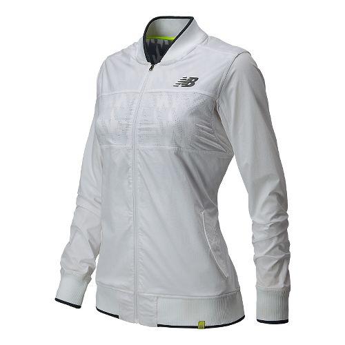 Womens New Balance Tournament Warm Up Lightweight Jackets - White M