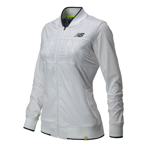 Womens New Balance Tournament Warm Up Lightweight Jackets - White XL