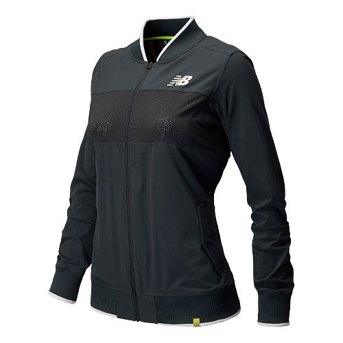 Womens New Balance Tournament Warm Up Lightweight Jackets - Anthracite L