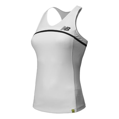Womens New Balance Tournament Racerback Tank Technical Top - White XXL