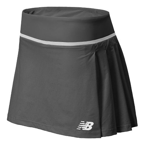 Womens New Balance Tournament Skort Fitness Skirts - Anthracite XL