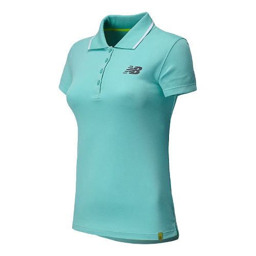 Womens New Balance Challenger Polo Short Sleeve Technical Top - Seaspray XXL