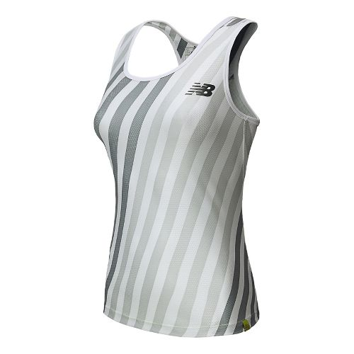 Womens New Balance Challenger Printed Tank Technical Top - White XXL