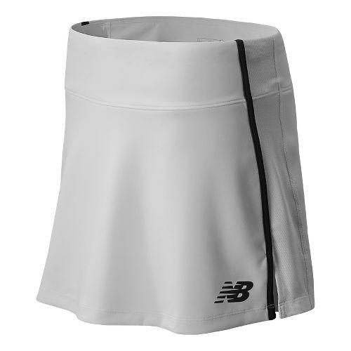Womens New Balance Challenger Skort Fitness Skirts - White L
