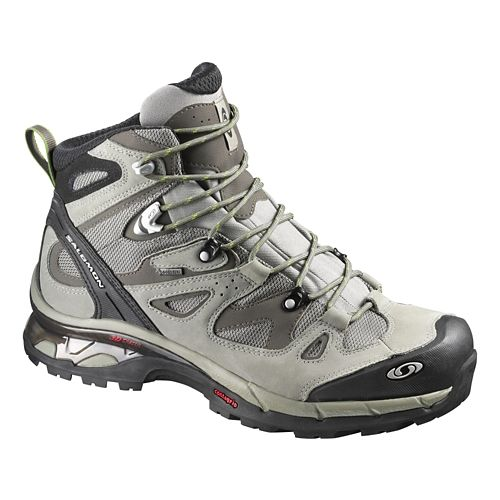 Mens Salomon Comet 3D GTX Hiking Shoe - Titanium/Swamp 7