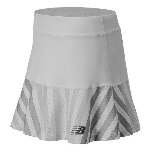 Womens New Balance Challenger Printed Fitness Skirts - White XL