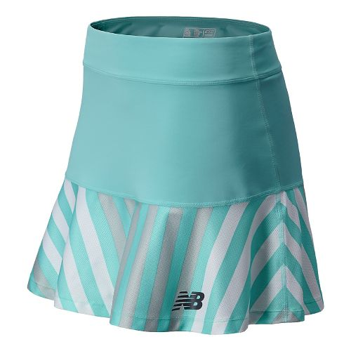 Womens New Balance Challenger Printed Fitness Skirts - Seaspray M
