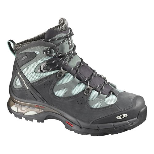 Womens Salomon Comet Lady 3D GTX Hiking Shoe - Asphalt/Blue 9