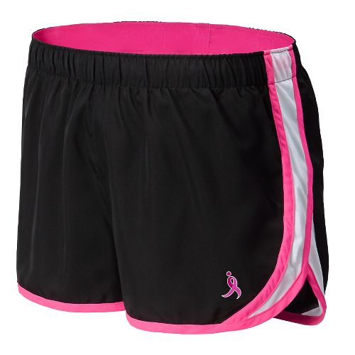Womens New Balance Lace Up Accelerate Split Shorts - Black/Pink S