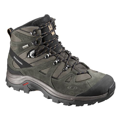 Mens Salomon Discovery GTX Hiking Shoe - Swamp/Black 7.5