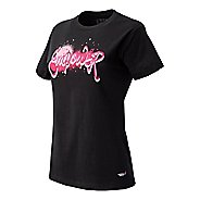 Womens New Balance Lace Up Empower Tee Technical Top