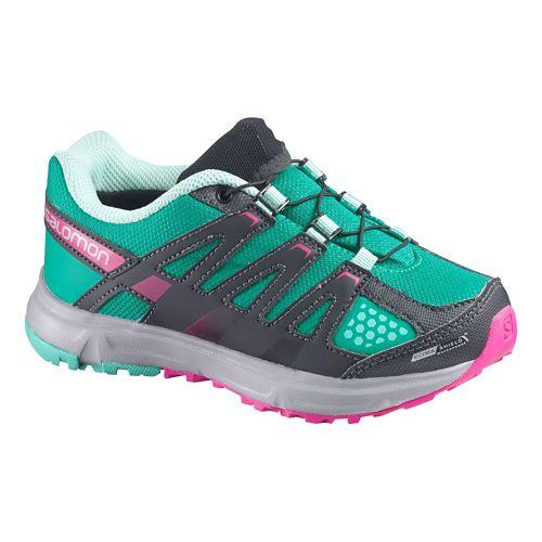 Kids Salomon XR Mission CS WP Trail Running Shoe - Red/Quick 1.5