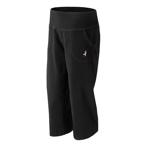 Womens New Balance Lace Up Carefree Contender Capri Pants - Black L