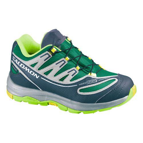 Kids Salomon XA Pro 2 WP Trail Running Shoe - Union Blue/Yellow 12