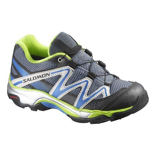 Kids Salomon XT Wings Trail Running Shoe - Blue/Yellow 12