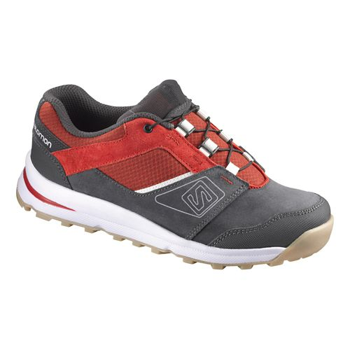 Kids Salomon Outban Premium Casual Shoe - Asphalt/Red 3