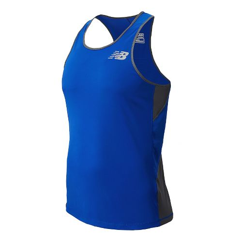 Mens New Balance Excel Race Day Singlet Tank Technical Top - Optic Blue XL