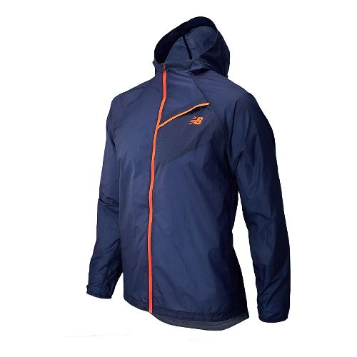 Mens New Balance Ultra Warm Up Hooded Jackets - Dark Sapphire L