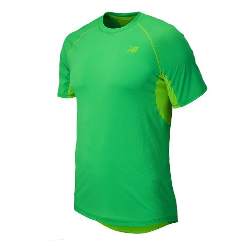 Mens New Balance Ultra Short Sleeve Technical Top - Acidic Green Heather M