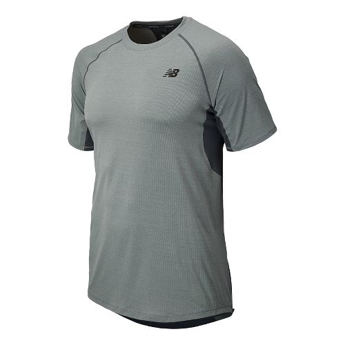 Mens New Balance Ultra Short Sleeve Technical Top - Steel Heather M