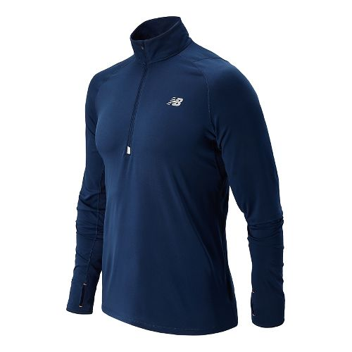 Mens New Balance Impact Long Sleeve Half Zip Technical Top - Dark Sapphire XXL