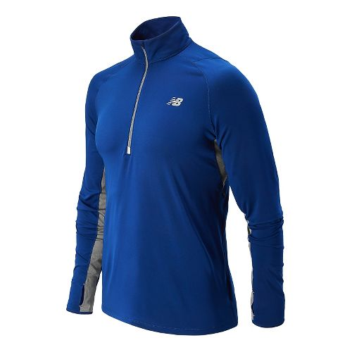 Mens New Balance Impact Long Sleeve Half Zip Technical Top - Optic Blue S