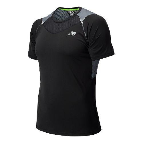 Mens New Balance Ice Short Sleeve Technical Top - Chemical Green XL