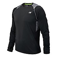 Mens New Balance Ice Long Sleeve No Zip Technical Top
