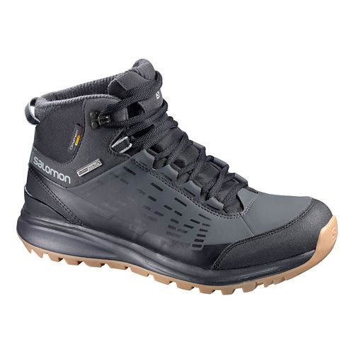 Mens Salomon Kaipo CS WP Hiking Shoe - Black/Asphalt 7