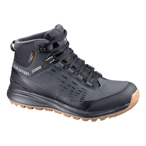 Mens Salomon Kaipo CS WP Hiking Shoe - Black/Asphalt 8.5