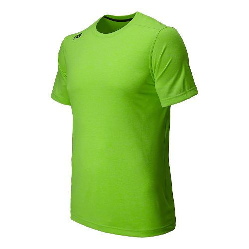 Mens New Balance Heather Tee Short Sleeve Technical Top - Chem Green Heather S