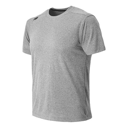 Mens New Balance Heather Tee Short Sleeve Technical Top - Heather Charcoal S