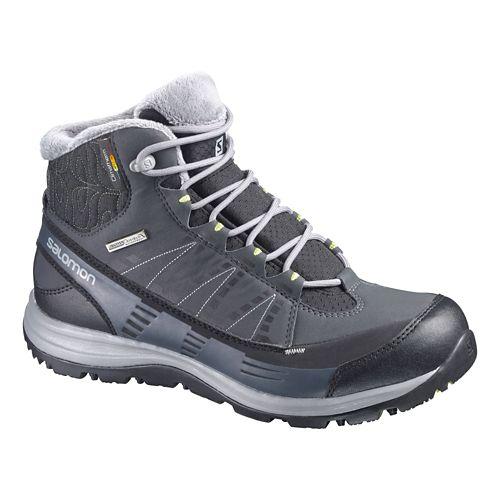 Womens Salomon Kaina CS WP Hiking Shoe - Black/Grey 10