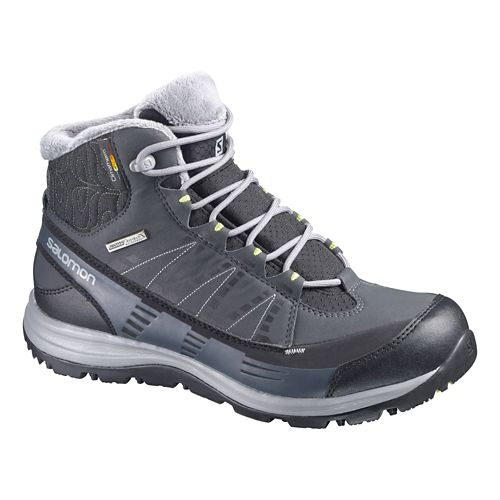 Womens Salomon Kaina CS WP Hiking Shoe - Black/Grey 7
