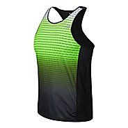 Mens New Balance Accelerate Singlet Graphic Tank Technical Top