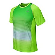 Mens New Balance Accelerate Graphic Short Sleeve Technical Top