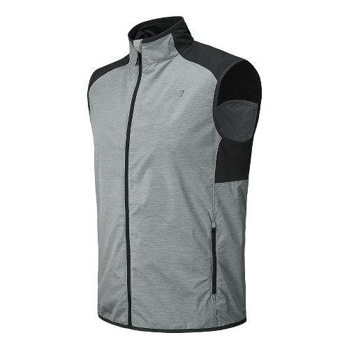 Mens New Balance Surface Running Vests - Black Grey L