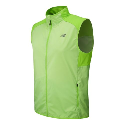 Mens New Balance Surface Running Vests - Chemical Green M