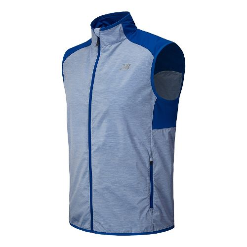 Mens New Balance Surface Running Vests - Optic Blue L