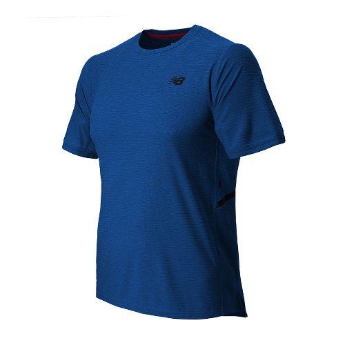 Mens New Balance Shift Short Sleeve Technical Top - Optic Blue Heather XL