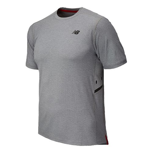 Mens New Balance Shift Short Sleeve Technical Top - Cadet Heather XS