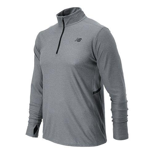 Mens New Balance Shift Long Sleeve 1/4 Zip Technical Top - Athletic Grey XXL