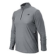 Mens New Balance Shift Long Sleeve 1/4 Zip Technical Top