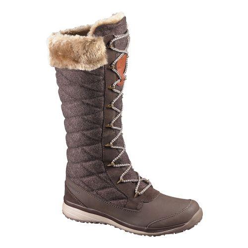 Womens Salomon Hime High Casual Shoe - Brown 9.5