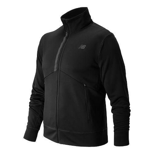 Mens New Balance Edge Warm Up Hooded Jackets - Black XL