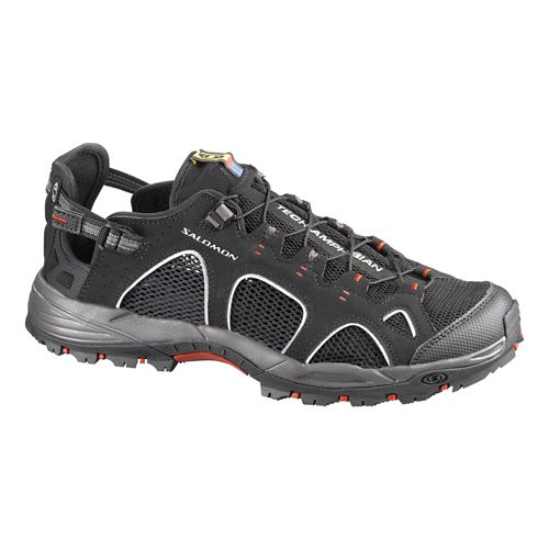 Mens Salomon Techamphibian 3 Hiking Shoe - Black 10.5