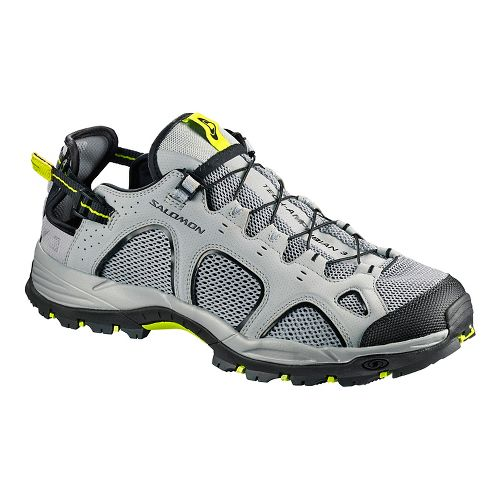 Mens Salomon Techamphibian 3 Hiking Shoe - Black/Acid/Lime 8